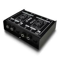Pyle Pro PDC22 Stereo Direct Box. Dual DI Unit Instrument Unbalanced Balanced