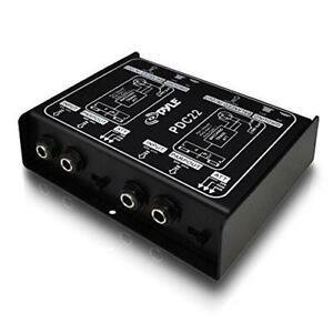 Pyle Pro PDC22 Stereo Direct Box. Dual DI Unit Instrument Unbalanced Balanced