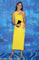 New Versace Yellow Cut Out Long Dress size 38 as seen on Minnie