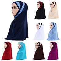 Muslim Hijab Scarf Cap Women Head Islamic Headscarf Wrap Amira Turban Shayla Hat