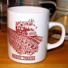 "Railroad ""WOODEN TRESTLE"" Coffee Cup / Mug  Ottawa-Arnprior & Parry Sound Train"