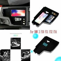 1x Mobile Phone Wireless Charger Armrest Storage For BMW 3 F30 F31 F32 F34 Box