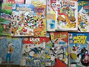 Lot of 91 Walt Disney Comic Books Mickey Mouse DuckTales Goofy Donald Duck