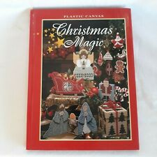 1995 Plastic Canvas CHRISTMAS MAGIC Patterns Hardcover Book Needlecraft Shop