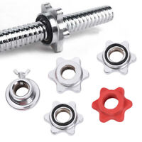 Weight Barbell Bar Clips Spin Lock Screw Dumbbell Spinlock Collars Check Nut