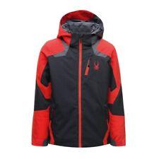 Spyder Boys Leader Jacket Kinder Skijacke schwarz