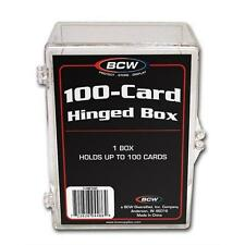 10 Ten - BCW Brand 100 Card Storage Plastic Case Hinged Snap Box - hb100