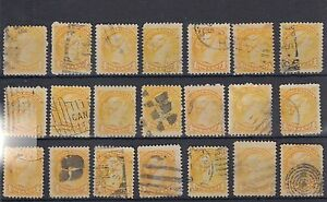One Cent Small Queen CANCEL LOT Canada used, will combine for shipping