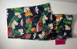 Denver Broncos Women's Large 12-14 Hawaiian Floral NFL SOFT Pajama Pants NWT