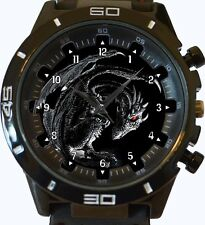 Ancient Negro Dragón Nuevo Serie Gt Deportivo Unisex Reloj