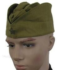 RUSSIAN ARMY PILOTKA SIDE HAT + HAMMER & SICKLE BADGE