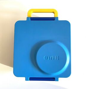 OmieBox Bento Box Insulated Bento Lunch Box w/ Leak Proof Thermos Blue