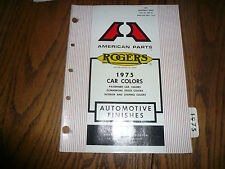 1975 Rogers Domestic Car Colors Color Chips Booklet - GM Chrysler Ford AMC VW