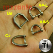 4 styles Titanium D / U shackle for key chain ring or outdoor EDC gear use