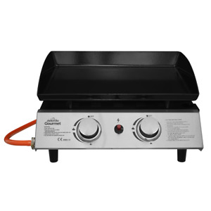 Dellonda 2 Burner Gas Stainless Plancha Grill BBQ Camping Portable Griddle 5KW