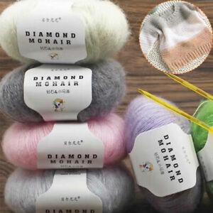 1 Roll 25g/ball Mohair Yarn Skin-friendly Wool Yarn DIY Knitting Sweater Scarf