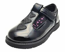 Chatterbox Black Patent Girls School Shoes with T Bar