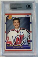 Martin Brodeur Signed 1990-91 Score Rookie Card Auto Beckett Authenticated