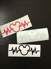 Mickey Heartbeat Disney Decal Sticker for Car, Mug or Laptop