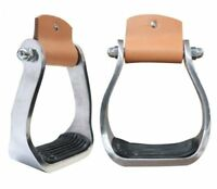 Aluminum Youth Kids Childs Western Horse Saddle Barrel Racing Pleasure Stirrups