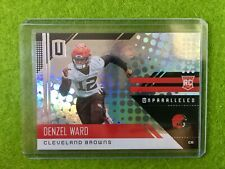 DENZEL WARD ROOKIE CARD RC JERSEY #12 PRIZM CLEVELAND BROWNS - 2018 Unparalleled