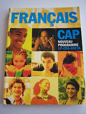 FRANCAIS CAP  NOUVEAU PROGRAMME  LP. CFA . GRETA .  TRES BON ETAT .