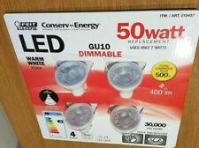 4 x LED GU10 Spot Light FEIT 50W Equivalent To 7W Warm White NEW