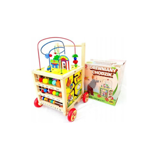 Wooden Baby Push Walker 6 in 1 Educational Learning Activity Cube For Toddlers