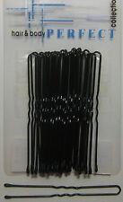 60 hochwertige Haarnadeln groß Tropfenenden schwarz 7cm abgerundet dick gewellt
