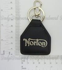 Norton Motorcycle Script Leather Keyring Key Chain Fob