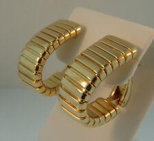Bulgari Bvlgari18K Yellow Gold Tubogas Earrings-24.5 Grams