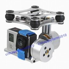 2 Axis Brushless Camera Gimbal + 2pc Motor For DJI Phantom Gopro3 FPV Aerial PTZ