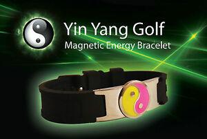 Yin Yang Golf magnetic energy bracelet bio power disc ball marker sport health P