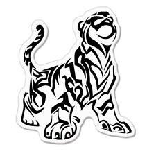 "Tiger tribal Design car bumper sticker decal 4"" x 4"""