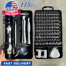 US 115Pcs Screwdriver Maintenance Repair Set Kit Magnetic Electronic Tool Device