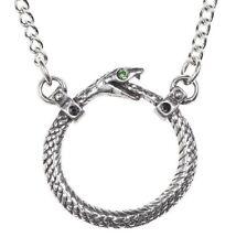 Sophia Serpent Ouroboros Infinity Snake Pendant Necklace Alchemy Gothic P853