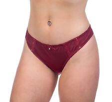 Alegro Lingerie Antique Rose Burgundy Panty Thong Underwear 9007B