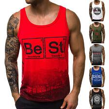 Tanktop T-Shirt Muskelshirt Sport Fitness Motiv Sommer Herren OZONEE 9587 MIX
