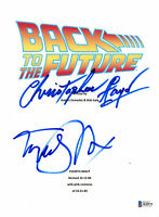 MICHAEL J FOX CHRISTOPHER LLOYD AUTOGRAPHED BACK TO THE FUTURE SCRIPT BECKETT
