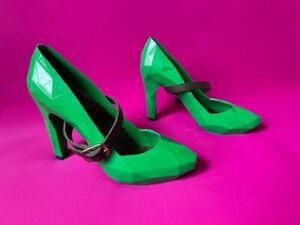 United Nude Lo Res bright green plastic high heel shoes strap women EU 36 UK 3.5