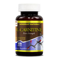Extra Strength L-Carnitine 500 mg Fat Burn HIGH POTENCY 120 Caps Made IN USA