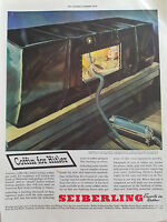 1943 Seiberling Tires Woman War Worker  Coffin Rubber Gas Tank Military WWII Ad