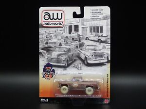 2021 AUTO WORLD ULTRA RED CHASE 1978 CHEVY K10 4X4 SQUARE BODY PICKUP TRUCK GULF