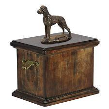 Great Dane CONMEMORATIVO Urna para de perro cenizas, con statue.cremation Ataúd