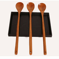2PCS Spoon with Hole Wood Heat Resistanct Cooking Spoon for Hot Pot Restaurant