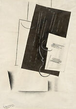 Georges Braque Reproduction: Black and White Collage, 1913 - Fine Art Print