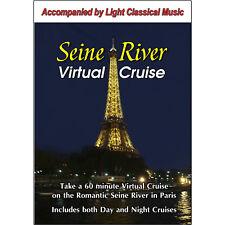 SEINE RIVER, PARIS, FRANCE VIRTUAL CRUISE - 1 HR ROMANTIC BOAT RIDE  DAY & NIGHT