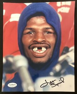 Leon Spinks Signed Photo 8x10 Boxing Heavyweight Missing Teeth Autograph JSA
