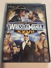 WWE: Wrestlemania XXVII 27 (DVD, 2011, 2-Disc Set) Not a Scratch!
