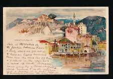 Italy VENTIMIGLIA Used 1905 artist Manuel Wielandt u/b PPC